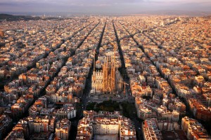 "IMAGES OUTSIDE OF PRINT NEWSPAPER SUBSCRIPTION DEALS  Mandatory Credit: Photo by Amos Chapple/REX (4131200a)  The ""Eixample"" district with Sagrada Familia, Barcelona, Spain  Aerial views of Europe taken using a drone - Sep 2014  *Full story: http://www.rexfeatures.com/nanolink/pgwd  The octagonal city blocks were designed to allow light and space on the street corners.   These breathtaking images give a whole new perspective on Europe. The beautiful shots were taken by photographer Amos Chapple using a camera mounted to a quadcopter drone.This enabled him to capture these unusual aerials showing some of Europe's sights like they've never been seen before. Travelling across the continent he took photos everywhere from France and Germany to Spain and Russia."